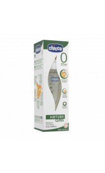 Biberon Cristal T Caucho Chicco Fisiologico Natures Glass B Ancha Flujo Normal 240 Ml