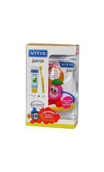KIT DENTAL VITIS JUNIOR  GEL + CEPILLO