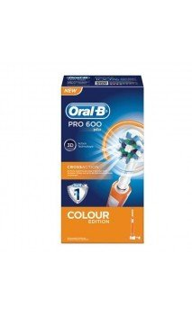 CEPILLO DENTAL ELECTRICO RECARGABLE ORAL B PRO 600 CROSS ACTION COLOUR NARANJA