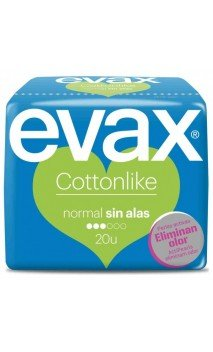 Compresa Evax Cottonlike 20 U. Normal Sin Alas