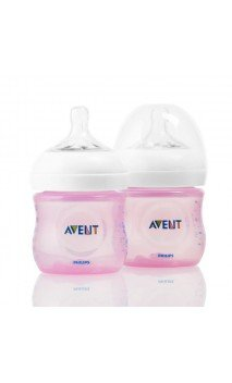 AVENT BIBERON NATURAL 125 ML ROSA