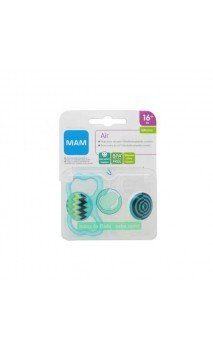 CHUPETE SILICONA MAM AIR 16+ M PACK DOBLE