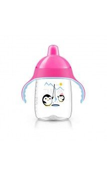 VASO BOQUILLA PHILIPS AVENT 340 ML ROSA