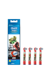 CEPILLO DENTAL ELECTRICO INFANTIL RECAMBIOS ORAL-B STAGES STAR WARS 4 RECAMBIOS